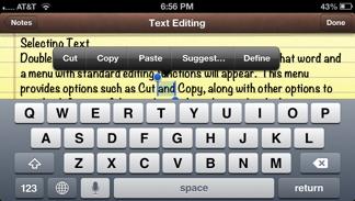 Cut Text Menu