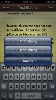 Redo Typing Screen