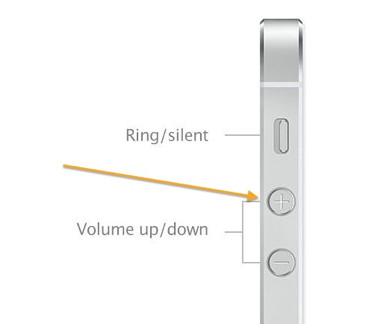 iPhone 5 Volume Up