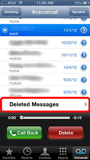 Deleted Messages