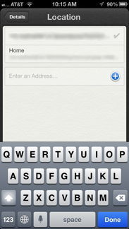 Enter Address