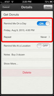 Remind On Day
