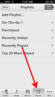 Playlists Button
