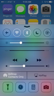 iPhone Control Center