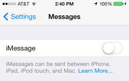 iMessage Slider