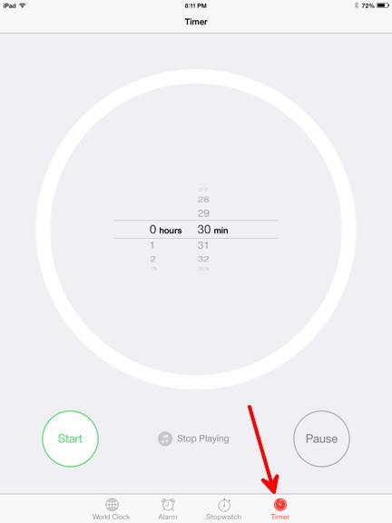 iPad Timer