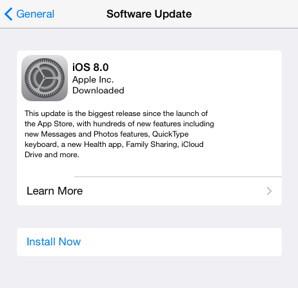 Install iOS 8