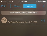FaceTime Audio Call