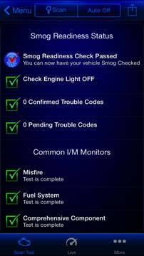 Smog Test Results