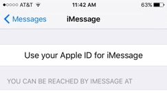 Use your Apple ID for iMessage
