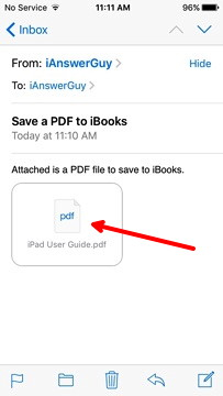 PDF in Email