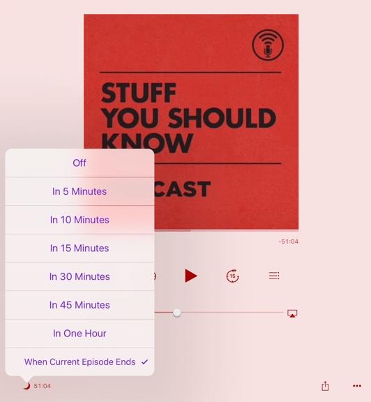 Sleep Timer on iPad