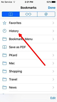 how to check safari history on iphone view the browsing history in safari on the iphone or 19913