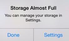 Storage Full Alert