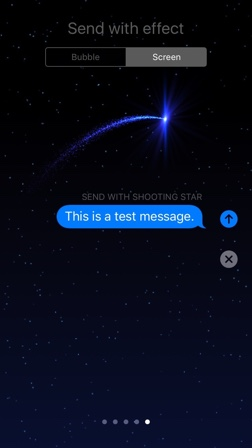 Shooting Star Screen Effect