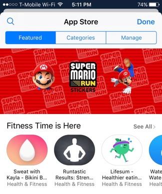 App Store Menus