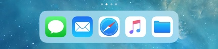 Recent Apps Removed from Dock