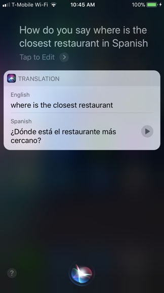 Siri Translate