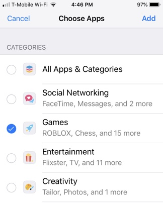 Choose App Category